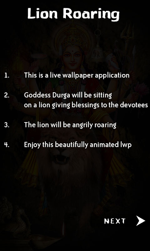 Live Lion of Durga Maa