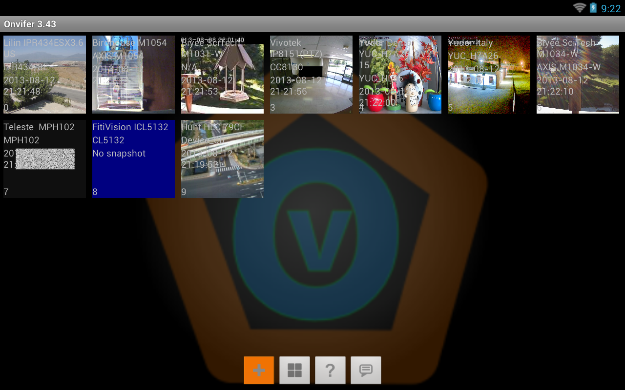 ONVIF IP Camera Monitor - screenshot