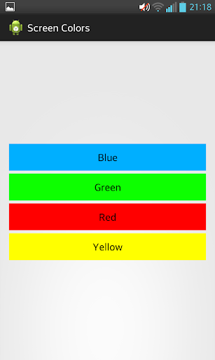 Screen Colors