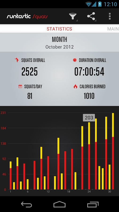 Runtastic Squats PRO Trainer - screenshot