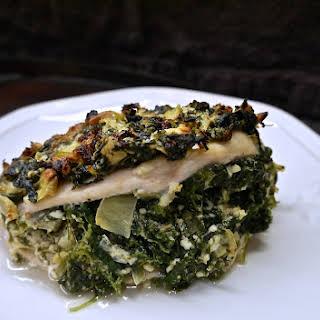 Spinach, Artichoke and Feta Stuffed Chicken.