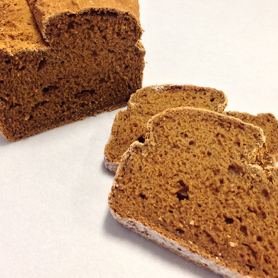 Yeast-free, Egg-free Brown Bean Bread. Dee-licious.