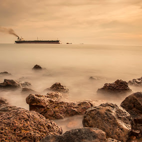 Rock Promontory Port Dickson by Coolvin Tan - Landscapes Waterscapes