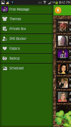 【免費個人化App】GO SMS - Shamrock 2-APP點子