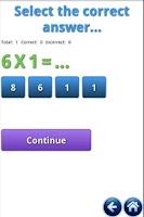 Screenshot of Multiplication Tables