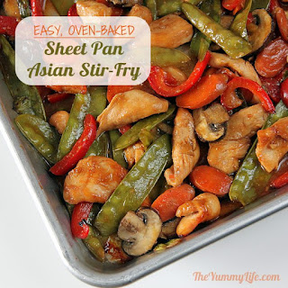 Sheet Pan Asian Chicken, Beef, Pork or Shrimp Stir-Fry