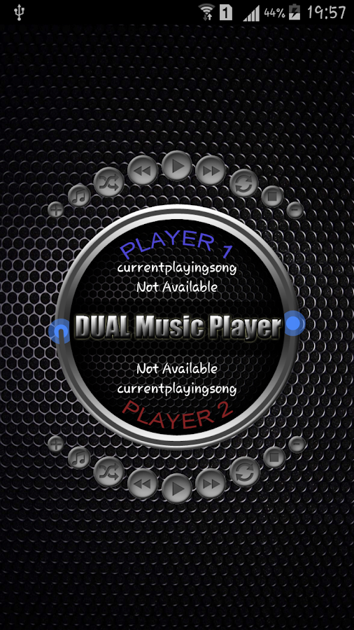 DUAL Music Player- screenshot