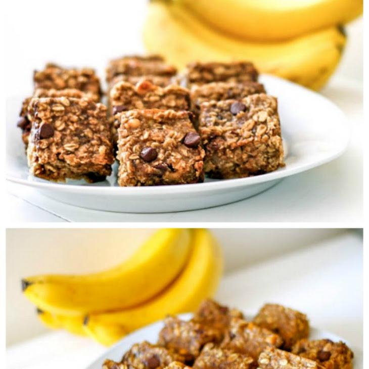 Peanut Butter Banana Chocolate Chip Oatmeal Bars Recipe