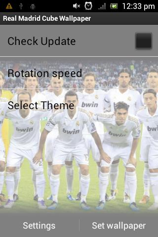 Real Madrid 3D Cube Wallpaper - screenshot