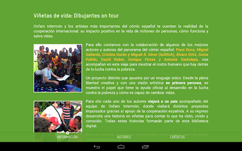 Comic On Tour. Oxfam Intermón- screenshot thumbnail