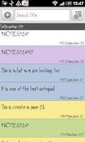 Screenshot of SE Notepad