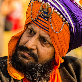 Anger Within by Avanish Dureha - People Portraits of Men ( punjab, kila raipur, sikhism, nihang, india, avanish dureha,  )