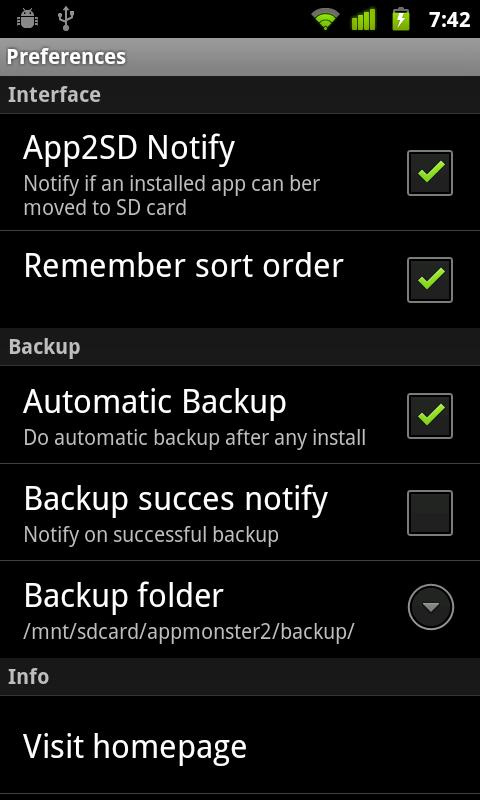AppMonster Free Backup Restore - screenshot