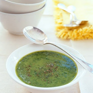 Pureed Spinach-Potato Soup.