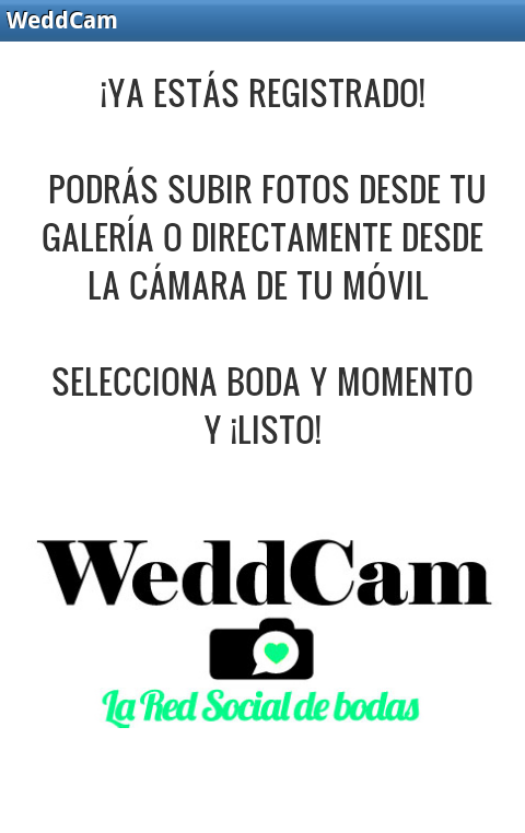 WeddCam- screenshot