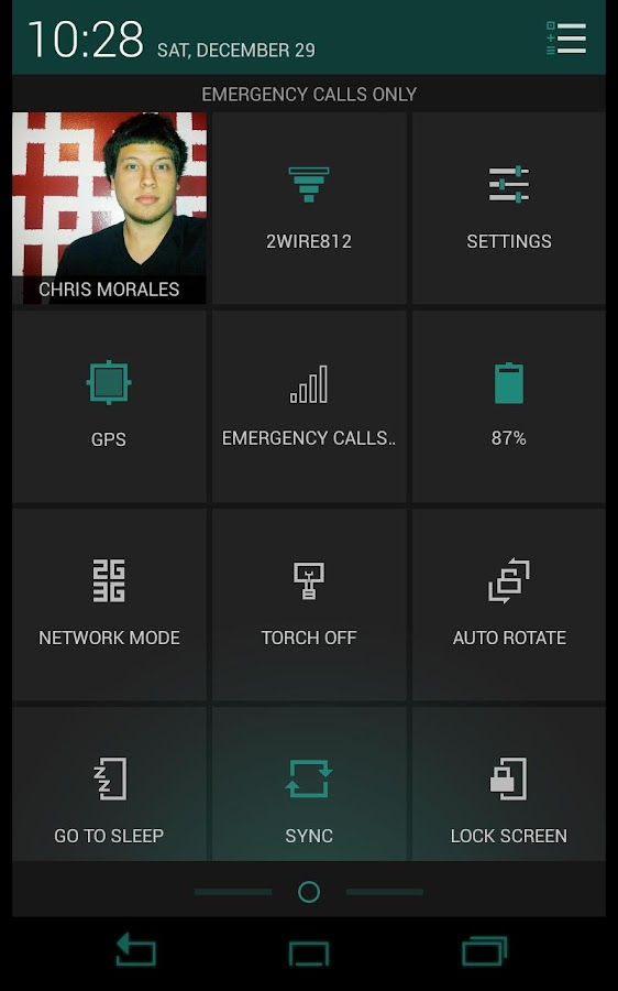 Torrid Teal CM10 Theme – Screenshot