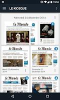 Screenshot of Journal Le Monde
