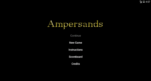 Ampersands- screenshot thumbnail