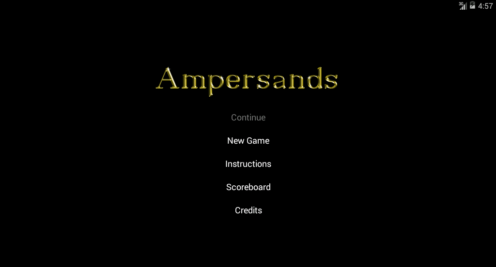 Ampersands- screenshot