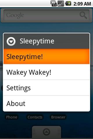 Sleepytime Lite - screenshot