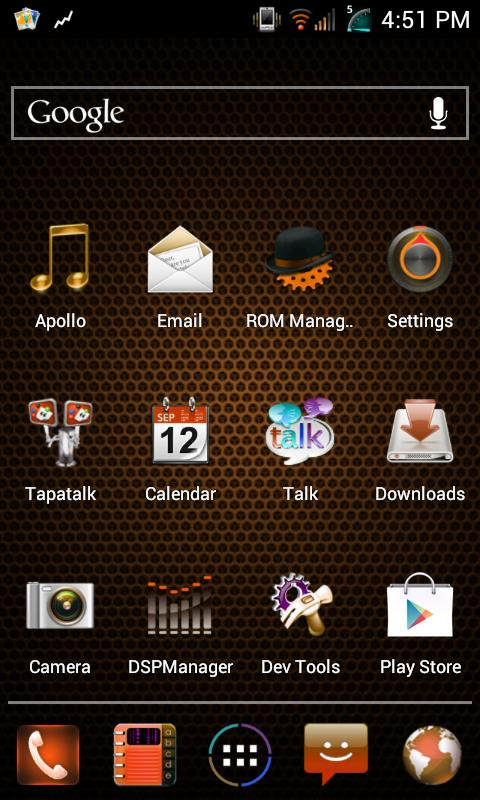 AOKP - CM9 - Mixer Orange - screenshot