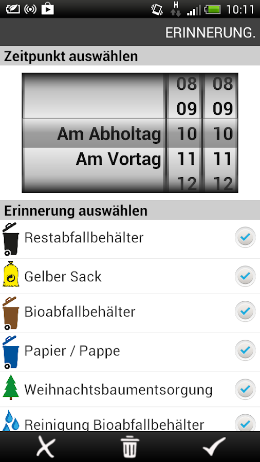 Abfall-Kalender- screenshot