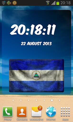 Nicaragua Digital Clock
