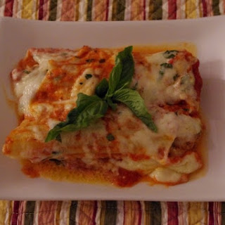 Stuffed Manicotti With Lamb Sausage And Cheese Sauce