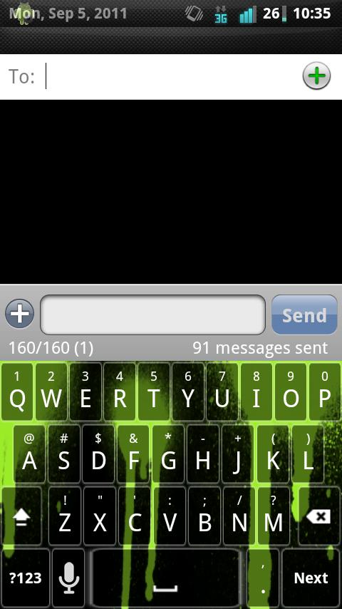 Green Spray Keyboard Skin - screenshot