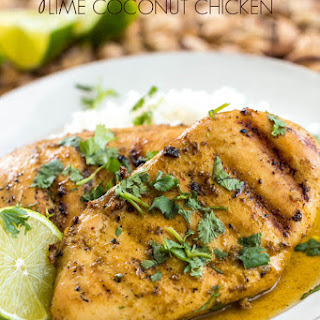 Grilled Lime Coconut Chicken with Coconut Rice.