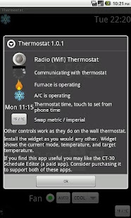 Radio Wifi Thermostat CT-30 - screenshot thumbnail