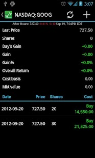 Stocks - Realtime Stock Quotes - screenshot thumbnail