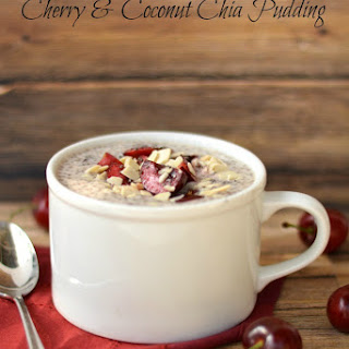 Cherry and Coconut Chia Pudding.
