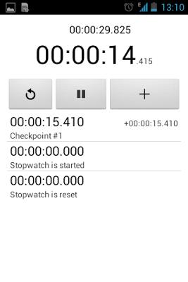 Simple Stopwatch - screenshot