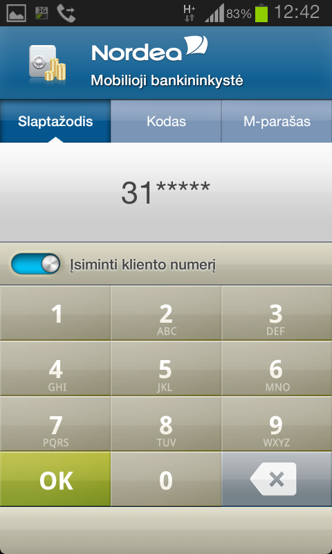 Nordea Lietuva - screenshot