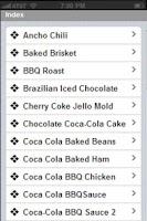 Screenshot of Famous Coca Cola Recipes