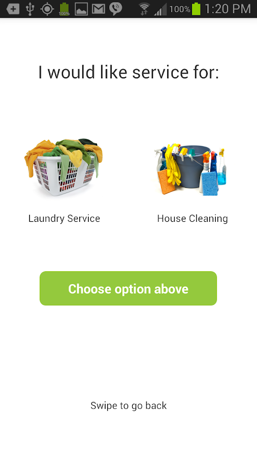 Laundry Pickup, House Cleaning- screenshot