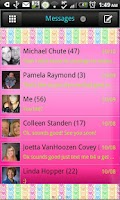 Screenshot of GO SMS - Hearts Forever