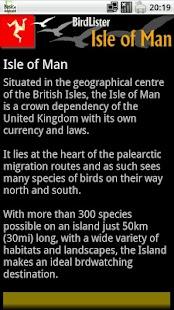 BirdLister Isle of Man- screenshot thumbnail