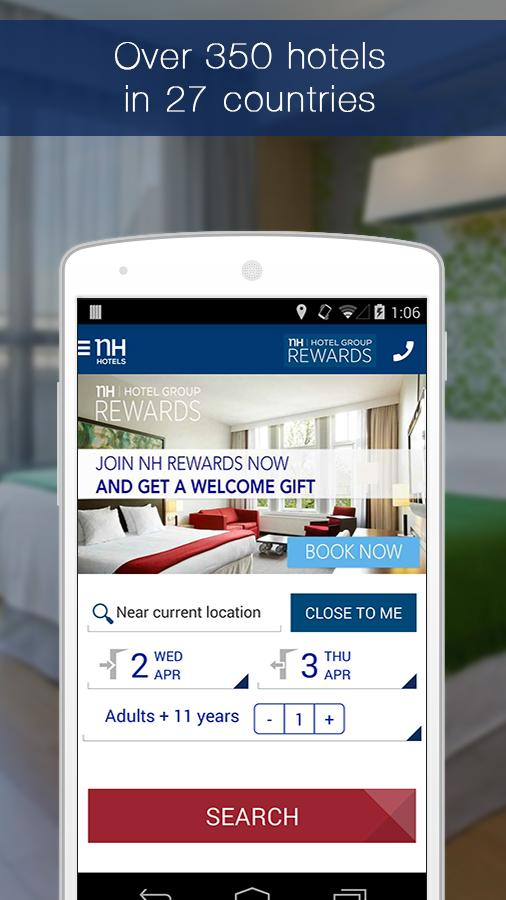 NH Hotels Reservations - screenshot