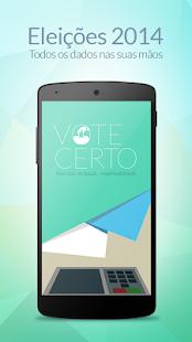 VoteCerto - Eleições 2014