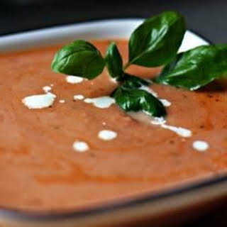 Rich and Creamy Tomato Basil Soup.
