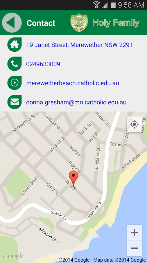 Holy Family Merewether Beach- screenshot
