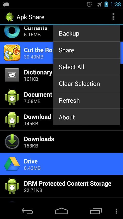 Apk Share & Backup - screenshot