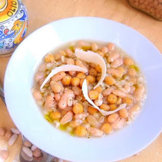Ligurian Bean and Barley Stew Pressure Cooker.