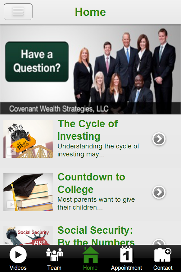 Covenant Wealth Strategies- screenshot