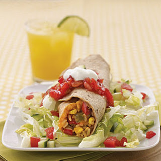 Refried Beans and Rice Burritos.