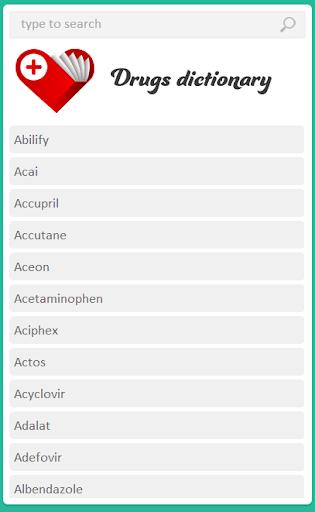 【免費醫療App】Drugs Dictionary Parmaterra-APP點子