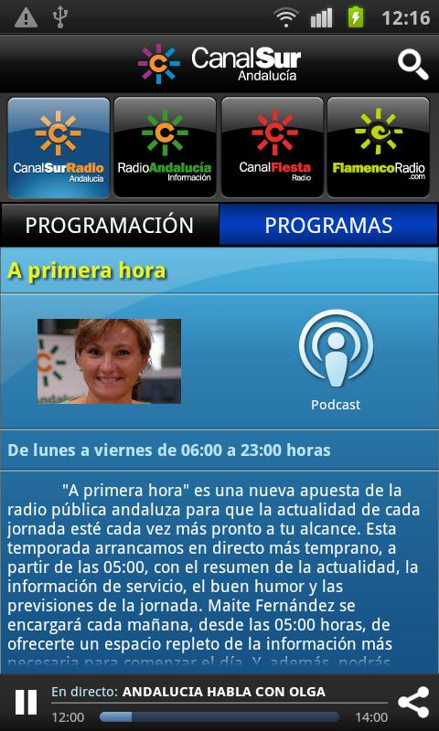 Canal Sur Radio - screenshot