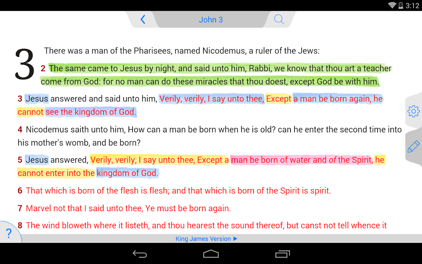 NLT Bible- screenshot